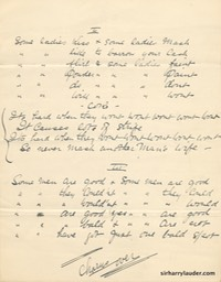 Song Lyrics Some People Do Other People Dont Handwritten Possibly By ??? Undated -2