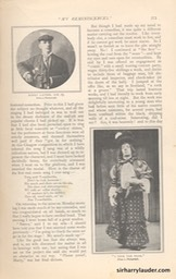 Strand Magazine My Reminiscenes By Harry Lauder April 1909 -4