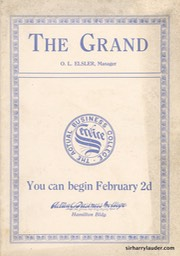 The Grand Akron Ohio Program Booklet Dated Jan 20 1914 -1
