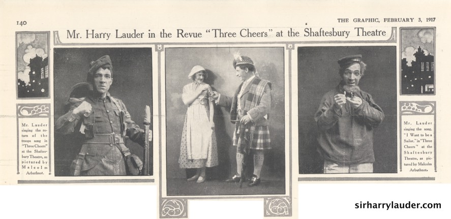 The Graphic Three Cheers Review Photos Feb 3 1917