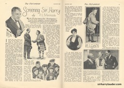 The Picturegoer Article Screening Sir Harry August 1927