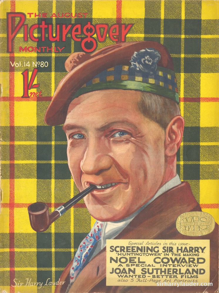 The Picturegoer Article Screening Sir Harry August 1927 Cover