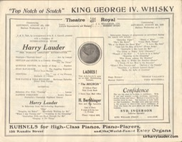 Theatre Royal Adelaide Programme Booklet Aug 4 1923 -2
