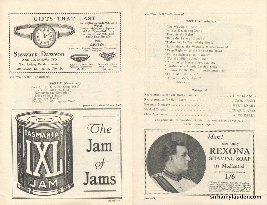 Theatre Royal Sydney Programme Booklet July 4 1925 -7