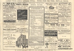 Tivoli London Programme Tri-Fold April 17 1911 Reverse