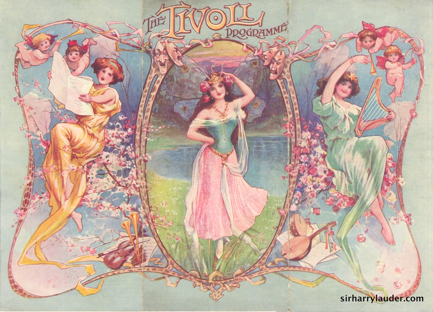 Tivoli London Programme Tri-Fold May 31 1909