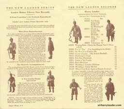 Victor Records Pamphlet New Lauder Records Jan 1910 -2