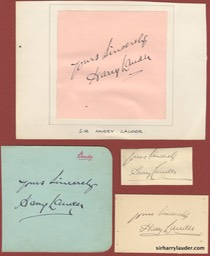 Yours Sincerely Group Of Four Undated